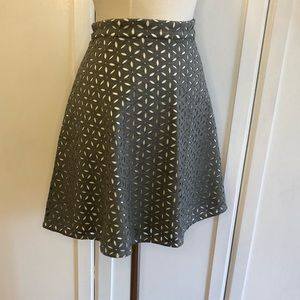 Club Monaco Laser Cut Fit and Flare Floral Skirt
